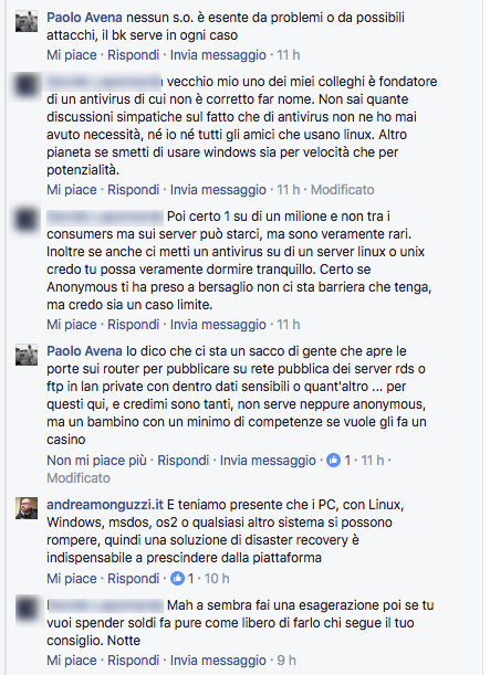 FacebookDiscussione